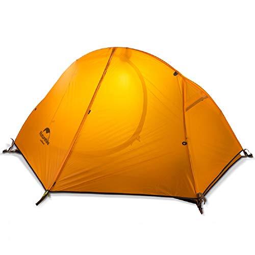 Naturehike Vélo Sac À Dos Tente 20D Double Couches en Aluminium Rod De Randonnée Tente 4 Saisons avec Tapis NH18A095-D