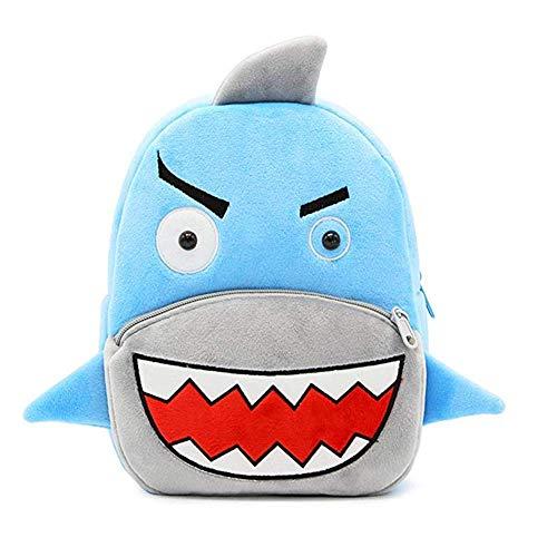Schattige dieren cartoon rugzak schooltas, voor peuter kinderen jongens meisjes, 2-5 jaar oud, Perfect cadeau voor kinderen, kinderen, unisex (haai)