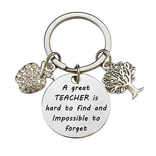Teacher Appreciation Keychain Gifts for Women, Teacher Keychain Teacher Jewelry Gifts, Christmas Graduation Gifts for Teachers (Style C)