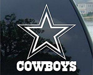 Dallas Cowboys - Logo Cut Out Decal (8', White)