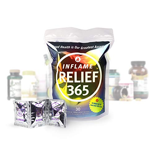 Inflame Relief 365 - Daily Supplement Program to Reduce Inflammation and Improve Whole Body Health in Convenient Morning, Noon and Night Dosages, – 14 Safe and Natural Inflammation Fighting Nutrients