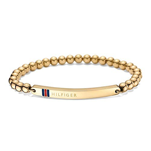 Tommy Hilfiger Jewelry Damen-Armband Classic Signature Edelstahl Emaille, Gold, 16 cm - 2700787