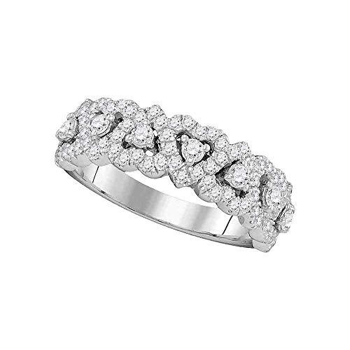 DazzlingRock Collection Mujer Niñas 14 quilates oro blanco redonda H-I diamante blanco