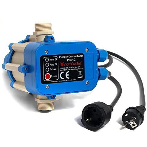 Hengda Pumpensteuerung mit Kabel Druckwächter Elektronische 10 bar mit Baranzeige Druckschalter Gartenbewässerung