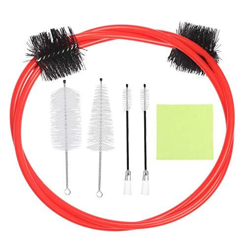Matogle Trompete Reinigung Pflege Kit Flexible Trompetenreinigung Kit mit Renigungstuch Reinigungsbürsten für Blechblasinstrumente Wartungszubehör für Trompete Horn Euphonium Tuba