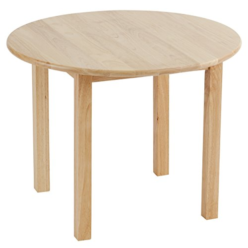 ECR4Kids 30-Inch Round Hardwood Table, 22-Inch Height, Kids' Homeschool Desk, Children's Solid Wood Activity Table for Learning At  Home, Natural Finish