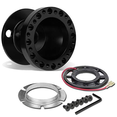 DNA Motoring HUB-ALU-OH124-BK 6-Hole Steering Wheel Hub Adaptor