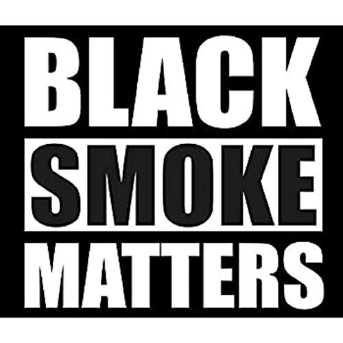 Cartat2s Black Smoke Matters Vinyl Decal Diesel 4X4 Car Truck Window Sticker Wall Toolbox Pick Size and Color (White, 5x4.3)