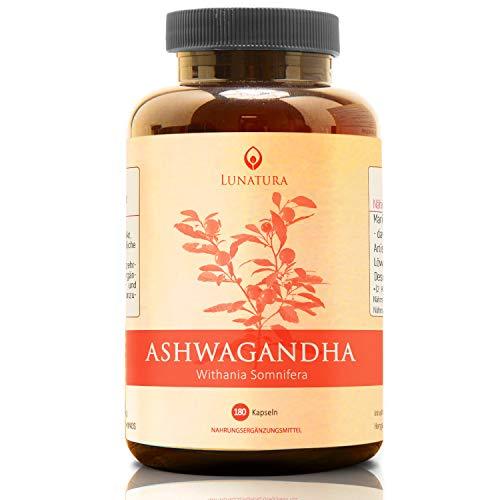 Premium Ashwagandha Extrakt | Hochdosiert mit 750mg Extract je Kapsel | Vegan aus Pulver - Tabletten ohne Zusatzstoffe - Aswangandha-Wurzel gemahlen aus Indien - 180 Kapseln
