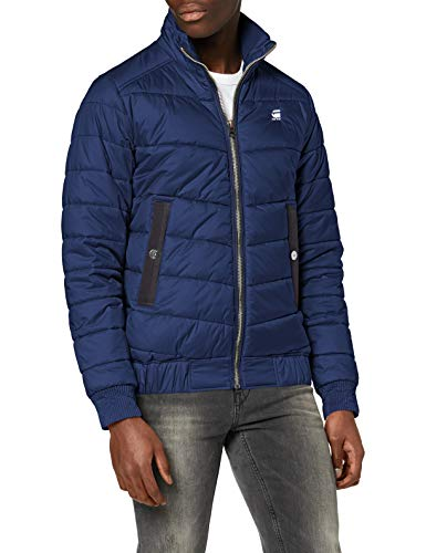 G-STAR RAW Meefic Quilted Overshirt Chaqueta, Azul (Imperial Blue B958-1305), XS para Hombre