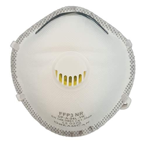 6X FFP3 Atemschutzmaske 99% Filter DreamCan Halbmaske Staubmaske Atemmaske Schutzmaske mit Ventil