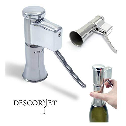 Descorjet® - Wein - Champagner und Sekt Korkenzieher, Professioneller korkenzieh iginalartikel für Ihr Champagner-Set. Originell weinöffner champagn Silver
