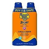 Banana Boat Ultra Sport Reef Friendly Sunscreen Spray, Broad Spectrum SPF 50, 6 Ounces - Twin Pack