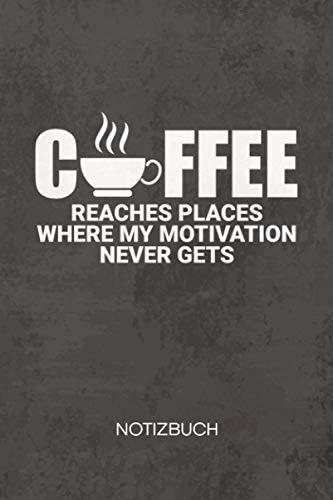 NOTIZBUCH A5 Dotted: Koffein Junkie Notizheft GEPUNKTET 120 Seiten - Langschläfer Notizblock Büro Witze Skizzenbuch - Cappuccino Geschenk für Kaffeeliebhaber Kaffeetrinker Kaffee Junkie