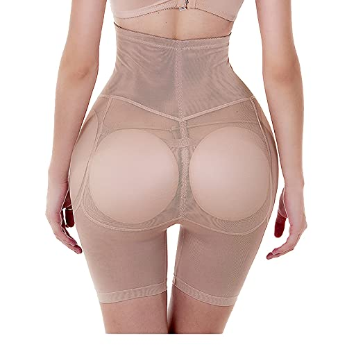 Mujer Braguitas Moldeadoras - Formadores De Cuerpo Acolchados Sexy Women Control Panties Push Buttock Up Lingerie Plus Size Butt Lifter Hip Enhancer Underwear, Apricot, XL