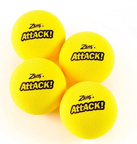 powwow Attack - Juego de 4 pelotas de tenis