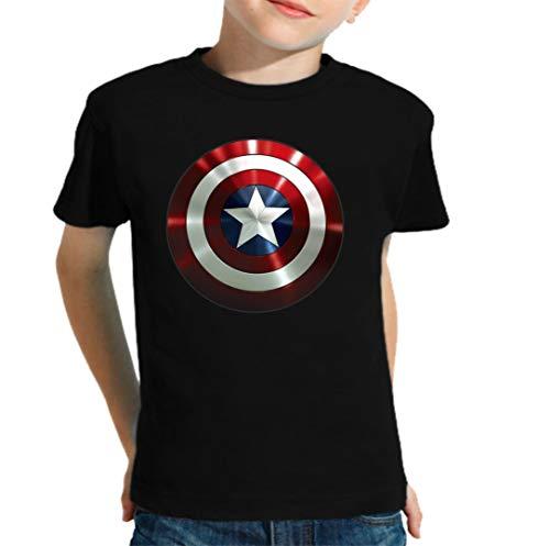 The Fan Tee Camiseta de NIÑOS Capitan America Comic Iron Man Hulk Advenger Vengadores 005 3-4 años