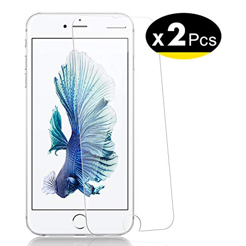 NEW'C 2 Unidades, Protector de Pantalla para iPhone 6 Plus, iPhone 6s Plus, Vidrio Cristal Templado