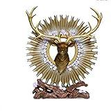 Decoración de Escritorio Europea Cabeza de la Resina Ornamentos Art Home LIVINGROOM Figurines artesanía Regalos Apertura DE UNA CASA Nuevo hogar Adornos de Escritorio (Color : B)