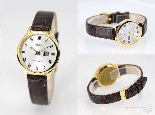 Eurochron Damen Funk Armbanduhr (Junghans-Werk) Funkuhr, Farbe Gold - 964.4705