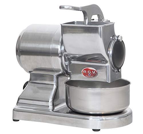 Grattugia elettrica con rullo professionale in acciaio inox Ideale per grattugiare formaggio ma anche pane, frutta secca, mandorle e cioccolato Made in Italy