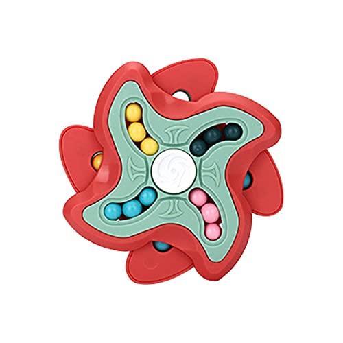 Yeeda Juguetes de Cubo de Frijol mágico Giratorio, Cuenta mágica giratoria de descompresión, Juguete de Cubo mágico FID-Get para Alivio de la Oficina, Juego de ansiedad por estrés