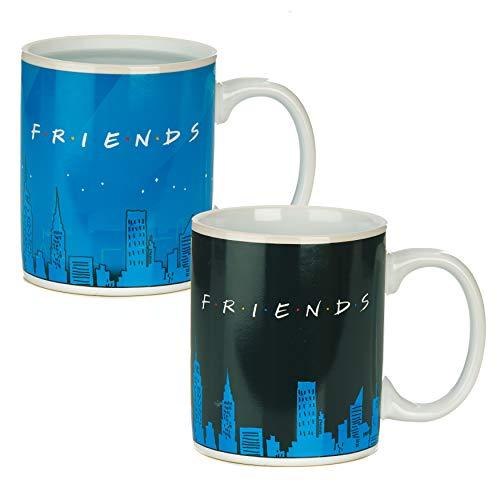 Friends Tasse Thermoeffekt They don't know schwarz/blau, bedruckt, 100 % Keramik, Fassungsvermögen ca. 320 ml.