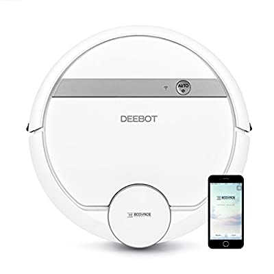 Ecovacs Deebot 900 Smart Robotic Vacuum for Carpet, Bare Floors, Pet Hair, with Mapping Technology, Higher Suction Power, Wifi Connected and Compatible with Alexa and Google Assistant