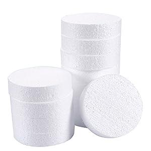 Círculos de espuma, suministros para artes y manualidades (4 x 4 x 1 pulgada, 12 unidades)