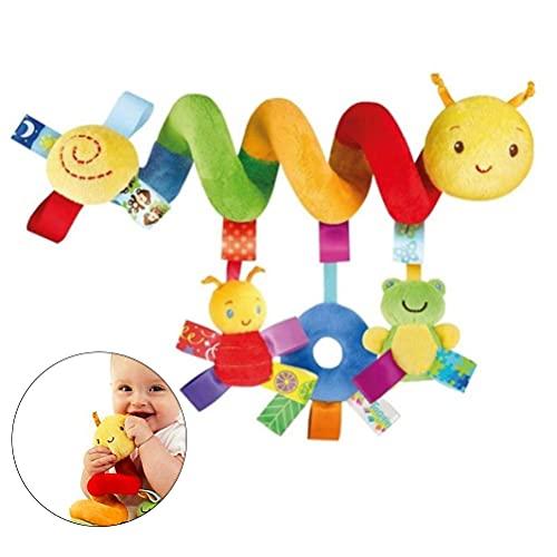 IWILCS Juguete en Espiral para Cochecito, Juguete para Colgar en la Cama, Asiento de Coche para bebé, Asiento en Espiral de Animal, Juguete para Asiento de Coche para bebé