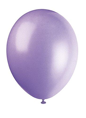 Unique Party-80007 Globos de Látex de 30 cm, Color Morado (Lilac Lavender), Pack de 10 (80007)
