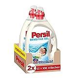 Persil Sensitive Gel (2 x 53 Waschladungen), ECARF-zertifiziertes Sensitive Waschmittel für...