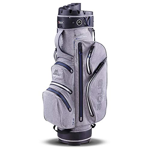 Big Max Aqua Silencio 3 Golf Cartbag 2020-100% wasserdichte Golftasche (Storm/Silver/Navy)