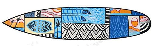 Interlifestyle - Placa de madera con aspecto de tabla de surf (100 cm), diseño de peces