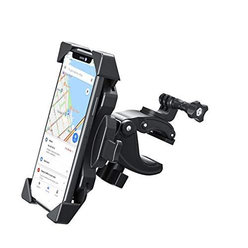 Fahrrad Handyhalterung Motorrad Handyhalter Holder- Fahrrad Lenker Handy Halterung Mit 360 Drehen für iPhone, Samsung, Huawei 4.0-6.5 Zoll Smartphone und Gopro Handyhalterung