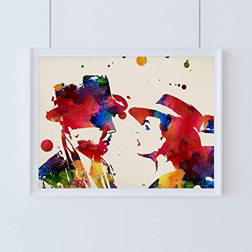Nacnic Poster de Casablanca con diseño Acuarela. Mix de láminas con Estilo Acuarela para decoración de Interiores. Tamaño A4 con Marco