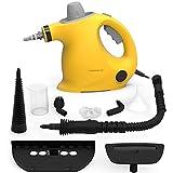 Hand Dampfreiniger handgerät, tragbare Mehrzweck mit 9 Zubehörteilen zum Entfernen von Flecken auf Teppichen, Autositzen, Küchenvorhängen, Kammern, Böden, Bädern und mehr