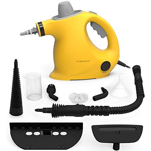 Multifunktionaler Comforday-Dampfreiniger als Handgerät mit 9 Zubehörteilen für Fleckenentfernung, Bedampfung, Teppiche, Vorhänge, Autositze, Küchenoberflächen & vieles mehr