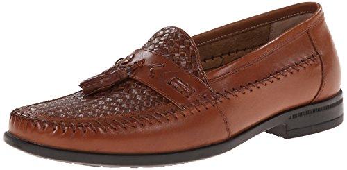 Nunn Bush Men's Strafford Woven Slip-On Loafer, Cognac, 9.5 M US