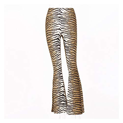 CML Hohe Taille Leopard Print Flaume Leggings 2020 Herbst Winter Frauen Mode Sexy Bodycon Hose Club Hosen (Color : 1, Size : L)