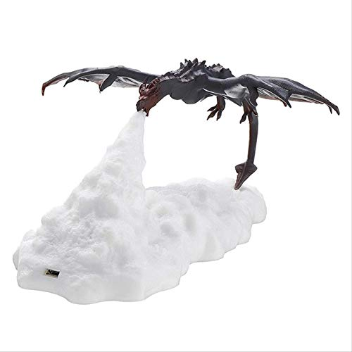 Cute 3D Printed LED Fire Breathing Dragon Night Light Table Lamp