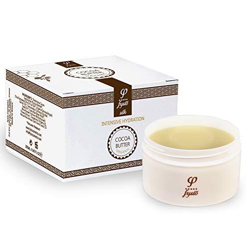 Fysio Cocoa Butter Body Moisturiser Organic with Olive Oil, Beeswax, Argan Oil, Jojoba   Multipurpose Skincare as Hand Foot Cream Lotion - Lip Balm - Leave In Hair Conditioner Straightener   250ml
