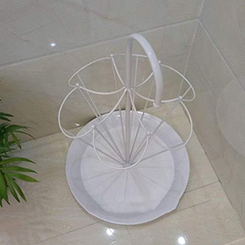 N/Z Haushaltsgeräte Blumenständer Bodenaufbewahrung Schirmständer Schirmständer Home Schmiedeeisen Schirmständer YGDH (Farbe: Weiß) Farbe: Weiß Regalregal (Farbe: Weiß)