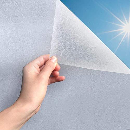 MARAPON ® Fensterfolie selbsthaftend Blickdicht [44.5x200 cm] inkl. eBook mit Profitipps - Sichtschutzfolie Anti-UV mit statischer Haftung - Milchglasfolie