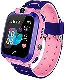 Kinderuhr Mädchen Digital Smart Watch Kinder LBS ortung Telefon rosa Smartwatch mit Spiele
