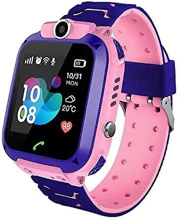 Smartwatch Kinder GPS Tracker Kinderuhr Mädchen Digital Smart Watch Kinder GPS Uhr Kinder Telefonieren Smartwatch Kinder Telefon Pink Wasserdicht