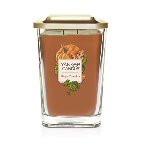 Yankee Candle Elevation Collection with Platform Lid Ginger Pumpkin Scented Candle, Large 2-Wick, 80 Hour Burn Time