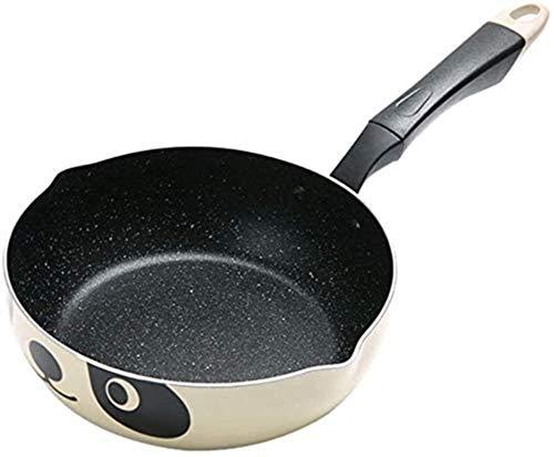 DXDUI Padella, Panda Pot Stile Giapponese Cooker Universale Padella Antiaderente in Alluminio Pot Padella Pietra Pot
