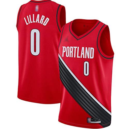 ERERT Hombres Baloncesto Camisetas Damian Trail Blazers NO.0 Rojo, Portland Lillard 2020/21 Swingman Jersey Transpirable Casual Camisetas Para Hombres - Declaración Edición