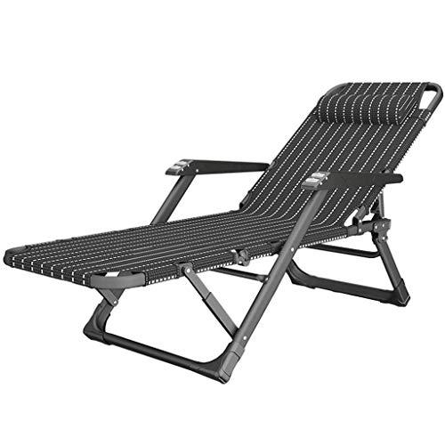 Sillas reforzadas Textoline Black Zero Gravity |Tumbonas para terrazas de jardín al Aire Libre |Sillas Plegables con reposacabezas máx.Capacidad de Carga 200 kg
